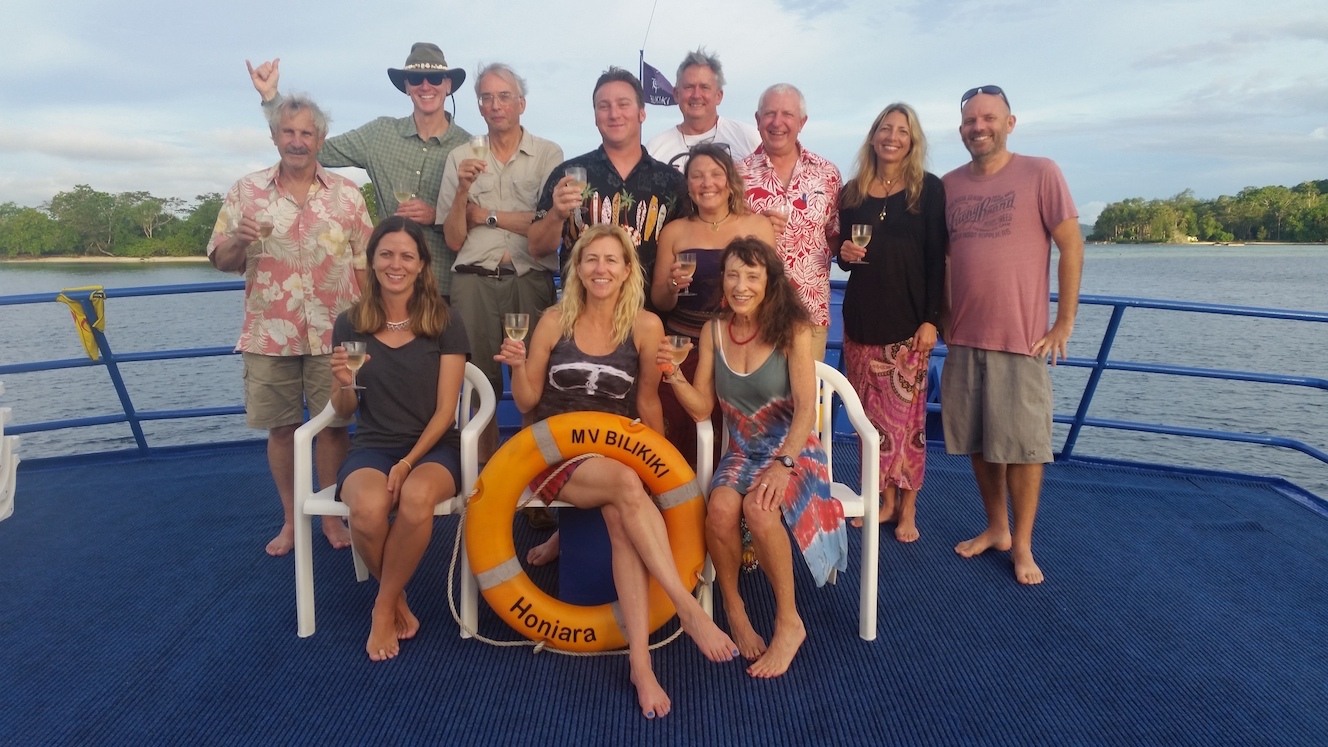 Group Photo of scuba divers enjoying the Solomons